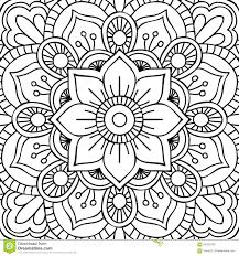 mandala coloring page stock vector image 62432760