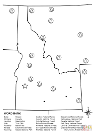 Idaho State Map by Idaho Map Worksheet Coloring Page Free Printable Coloring Pages