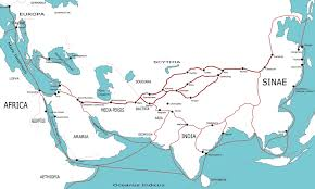 The Red Sea Map Tea And Carpets The Silk Roads Of The Sea Dhows Junks And Caravels