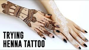 trying henna tattoo youtube