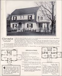 gambrel house plans 1922 clarendon by homes colonial revival style
