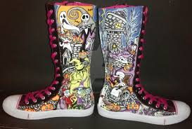 nightmare before knee high shoes by rachelliles352 on