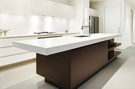 kitchens with island benches a wood kitchen island feature in neutral toned kitchen quartz
