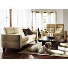 Low Back Leather Sofa Wave 3 Seat Sofa Low Back By Stressless