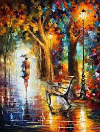 modern paint the end of patience palette knife modern oil painting on