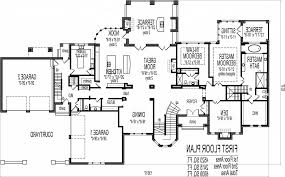floor plans for large homes 2 story house plans with garage large 7 bedrooms family bedroom
