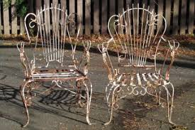 Antique Wrought Iron Patio Furniture by Vintage Large Wrought Iron Peacock Chair Patio Porch Swing Outdoor