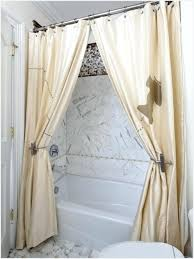 Bathroom Shower Curtain by Tie Back Shower Curtains Home Design Ideas And Pictures