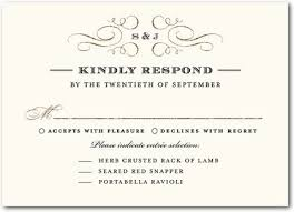 wedding response card wording exles of rsvp cards for wedding reception 5 types of wedding