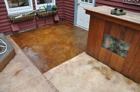 Stain Concrete Patio by Stained Concrete