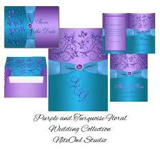 purple and turquoise wedding wedding invitation templates purple and turquoise wedding