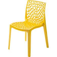 chaises jaunes chaise de jardin en résine grafik jaune leroy merlin