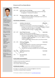 Job Resume Format Word by 8 Cv Template Word For A Student Bussines Proposal 2017