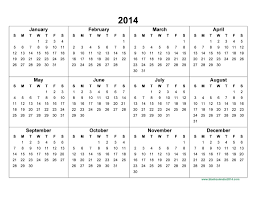 Template Of Calendar 2014 annual calendar 2014 pertamini co