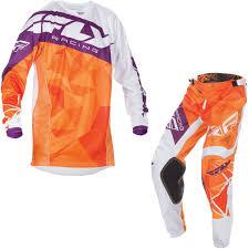 motocross jersey fly racing 2017 kinetic crux motocross jersey u0026 pants orange white