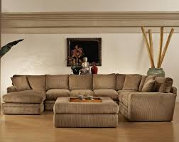 Upholstered Sectional Sofas Furniture Furniture Brown Upholstered Coffee Table And Sectional