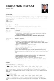 Soft Skills Resume Example by Geologist Resume Samples Visualcv Resume Samples Database