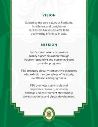 vision and mission vision mission far eastern