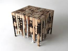Wooden Coffee Table Legs Eking It Out Table Is Made Out Of Recycled Table Legs Eco