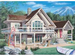 water front house plans sweden waterfront home plan d house plans and more sloping lots