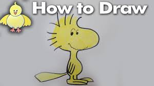 fun2draw thanksgiving how to draw woodstock from the peanuts quick step by step lesson