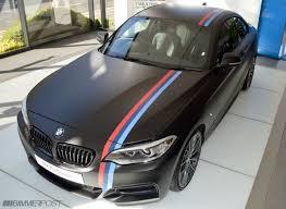 matte black car one of a kind m235i matte black w m stripes performance wheels