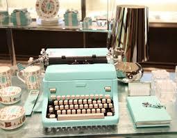 tiffany u0026 co shade of blue typewriter home decor pinterest