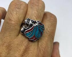 antique lion ring holder images Lion head ring etsy jpg