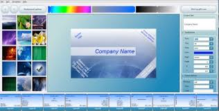 business card maker templates maker portable