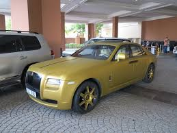 roll royce fenice matte gold rolls royce ghost youtube