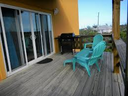 the two story orange house at world famous homeaway exuma