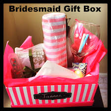 bridesmaids gift box gift idea for your bridesmaids u2014 according to d