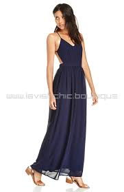navy maxi dress backless navy chiffon maxi dress