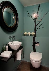 Small Bathroom Decor Ideas Relaxing Green Wall Color With Modern Toilet For Small Bathroom