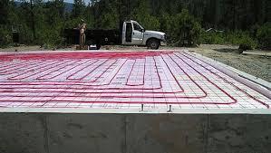 concrete floor radiant heating plumbing heating