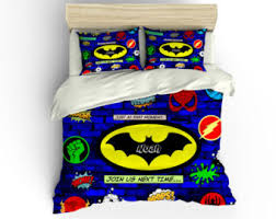 Batman Toddler Bedding Super Hero Bedding Etsy