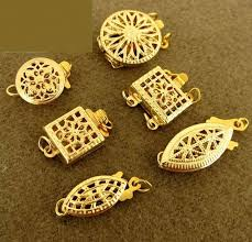 gold necklace clasps images Jewelry supplies box clasps strand k yellow gold filled filigree jpg