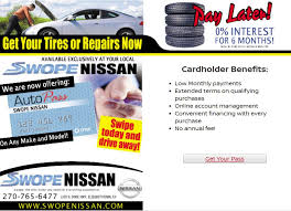 nissan finance establishment fee repairs now