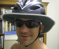 Sun Protective Cycling Clothing A Diy Sun Protective Brim For A Bicycle Helmet