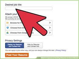 Upload Your Resume How To Upload An Existing Resume On Careerbuilder 10 Steps