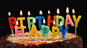 happy birthday candle festive candles happy birthday on a cake stock footage