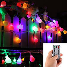 battery powered christmas lights amazon amazon com 4m 40 led ball styled string lights battery operated for