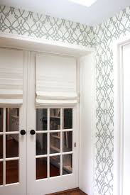 Roman Shade For French Door - roman shades on french doors so pretty and lends much to the tiny