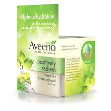 aveeno active naturals positively radiant overnight hydrating