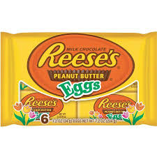 peanut butter eggs for easter reese s easter peanut butter eggs 6 ct 7 2 oz walmart