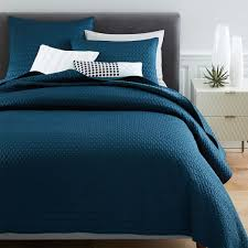 Teal Coverlet Gramercy Coverlet Shams Regal Blue West Elm