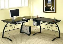 3 piece glass desk glass l shaped office desk black l shaped 3 piece glass l shaped
