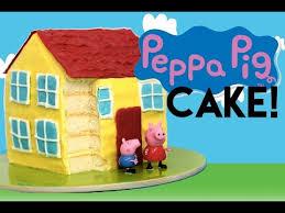 peppa pig cake peppa pig cake how to make a peppa pig house cake my cupcake