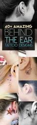 40 amazing behind the ear tattoos for women tattooblend