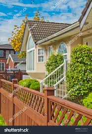 wooden fence front yard stock photo 112588016 shutterstock